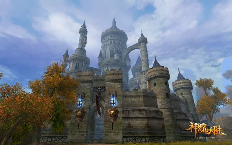 欧式3d城堡做法