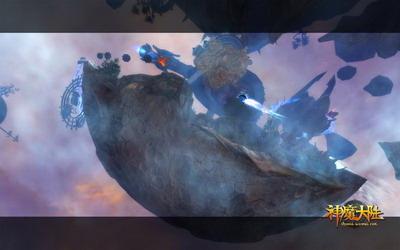 图片: 图1:《神魔大陆》实景截图-浮空基地.jpg