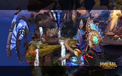 图片: 图2:《神魔大陆》实景截图-浮空基地.jpg