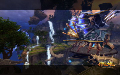 图片: 图3:《神魔大陆》实景截图-浮空基地.jpg
