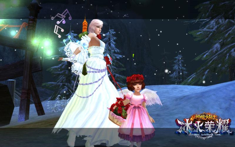 图1《神魔大陆·冰火荣耀》实景截图-春愿节使者遍布奇幻世界