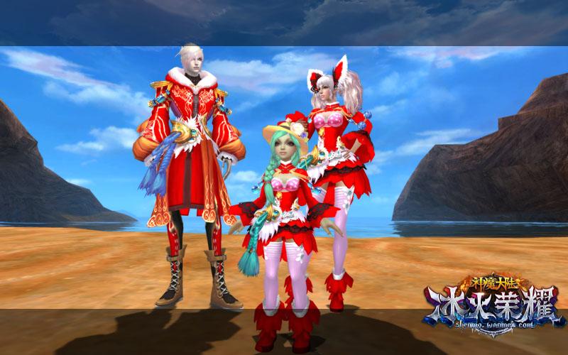 图3《神魔大陆·冰火荣耀》实景截图-约上小伙伴尽享新春狂欢