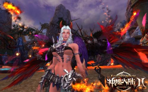 图片: 图6《神魔大陆2》实景截图-恶魔族掌控火系魔法元素.jpg